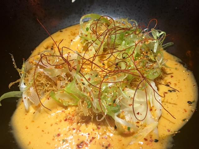 Dumpling de Carabinero con curry rojo