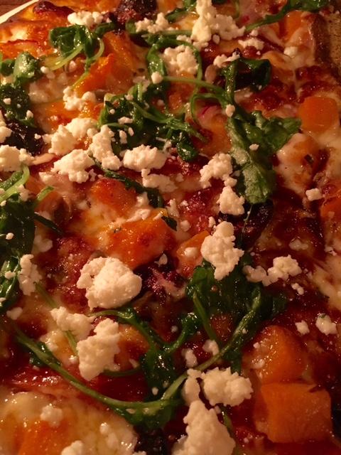 Pizza de Calabaza y Queso de Cabra
