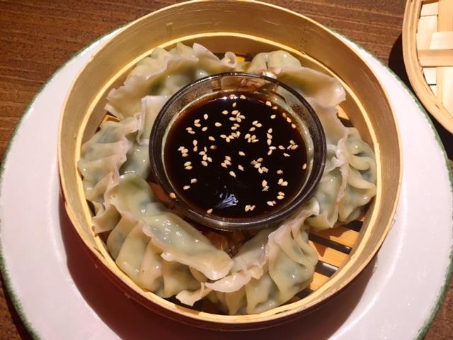 Dumplings de langostinos