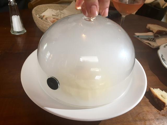 Yema de Huevo de corral y patatas rotas al carbón