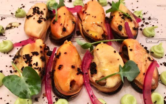 Mejillones con Guacamole