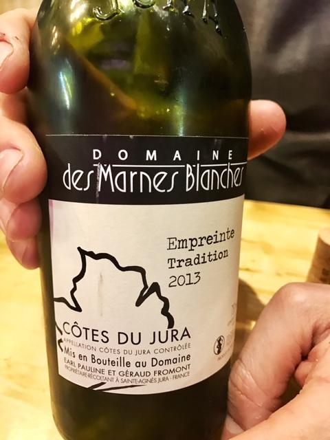 Domaine des Marnes Blanches Cotes du Jura 'Empreinte' Tradition Blanc