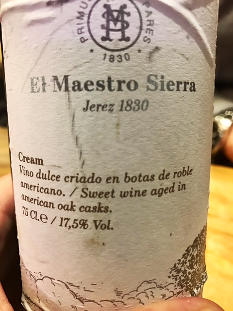 El Maestro Sierra Jerez 1830 Cream