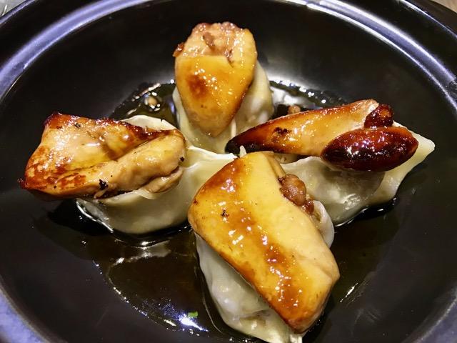 Dumplings de Pato con Boletus y Foie