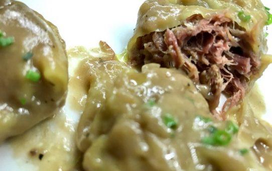 Raviolis de Boletus y Pato con salsa cremosa
