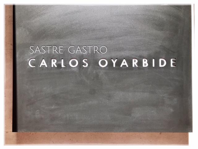 El Sastre Gastronómico. Carlos Oyarbide